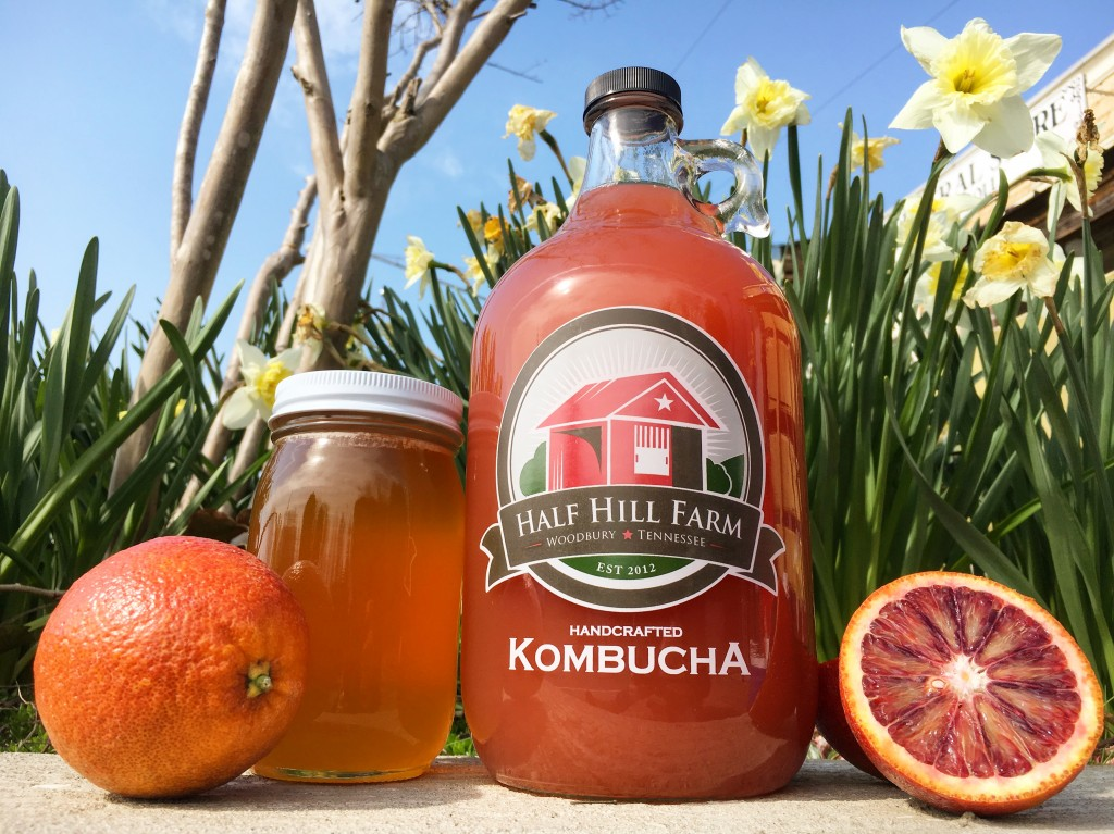 Half Hill Farm's Blood Orange Kombucha